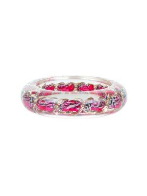 Pink Chain Transparent Bracelet by Chanel - Le Dressing Monaco