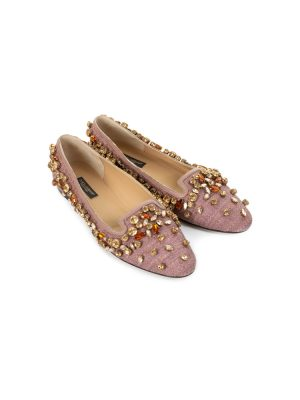 Lilac Slippers With Stones by Dolce e Gabbana - Le Dressing Monaco