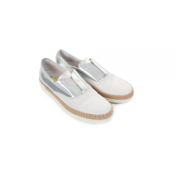 White And Silver Slip On Shoes by Tod's - Le Dressing Monaco