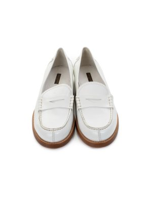 Shiny White Mocassins by Louis Vuitton - Le Dressing Monaco