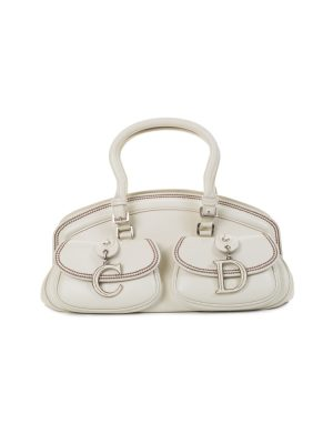 2 Pockets Off-White Handbag by Christian Dior - Le Dressing Monaco