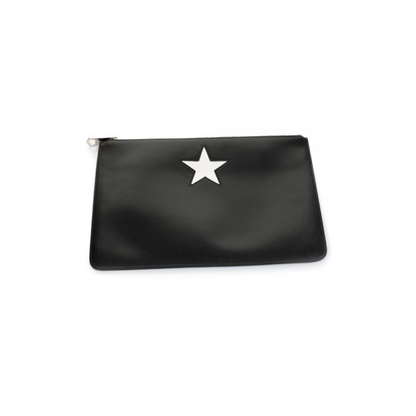 Leather Pochette White Star by Givenchy - Le Dressing Monaco