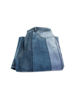 High Waist Patched Large Blue Jeans by Christian Dior - Le Dressing Monaco