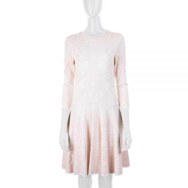 Light Pink Knitted Dress by Alexander McQueen - Le Dressing Monaco