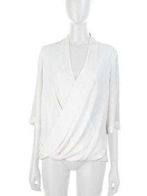 White Shirt Crossed Front by Karen Millen - Le Dressing Monaco