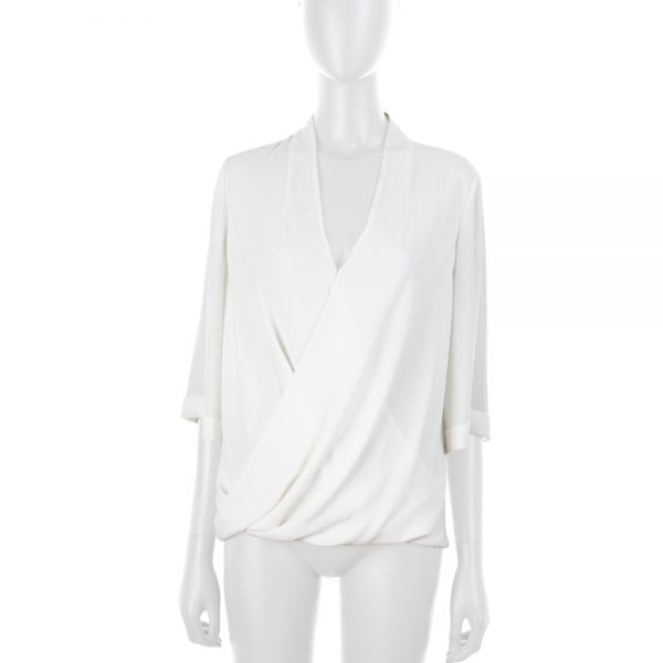 White Shirt Crossed Front by Karen Millen - Le Dressing Monaco