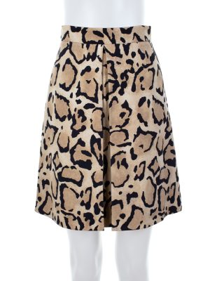 High Waist Leopard Silk Skirt by Gucci - Le Dressing Monaco