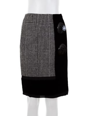 Two Big Buttoned Velvet Skirt by Dolce e Gabbana - Le Dressing Monaco