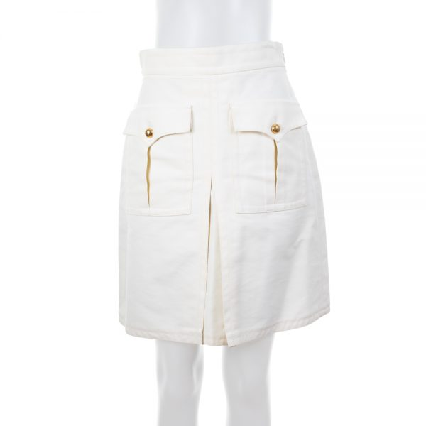 Two Pocketed Off White Skirt by Gucci - Le Dressing Monaco