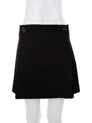 Black Wool Skirt Pleated Sides by Balenciaga - Le Dressing Monaco