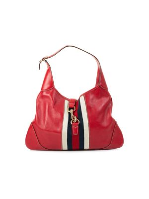 Red Leather Vintage Web Hobo Shoulder Bag by Gucci - Le Dressing Monaco