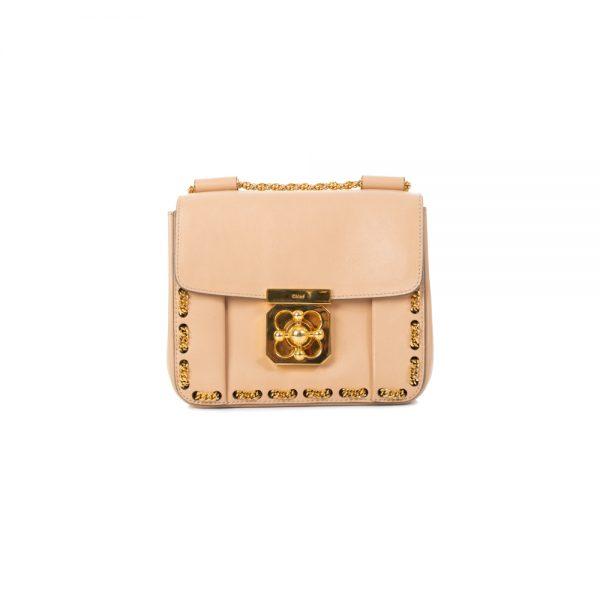 Nude Square Elsie Handbag by Chloé - Le Dressing Monaco