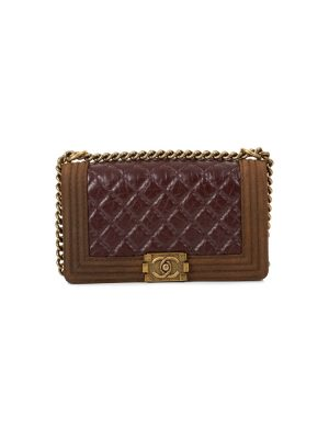 Glazed Quilted Medium Boy Bag by Chanel - Le Dressing Monaco