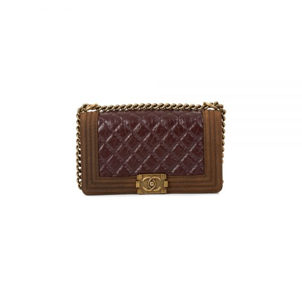 Glazed Quilted Medium Boy Bag by Chanel - Le Dressing Monaco