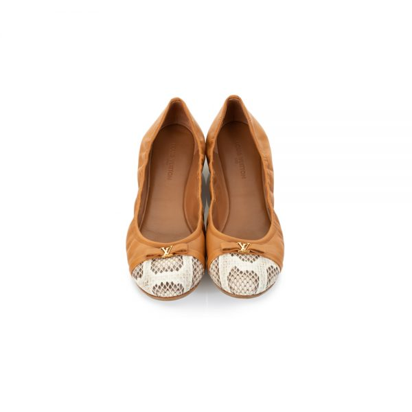 Python Toe Elasticated Ballet Flats by Louis Vuitton - Le Dressing Monaco