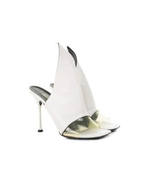 White Slip In High Heel Sandals by Balenciaga - Le Dressing Monaco
