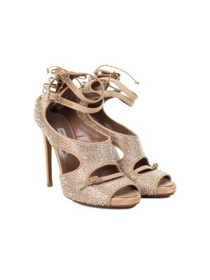 Bailey Crystal-Covered Lace-Up Sandals by Tabitha Simmons - Le Dressing Monaco
