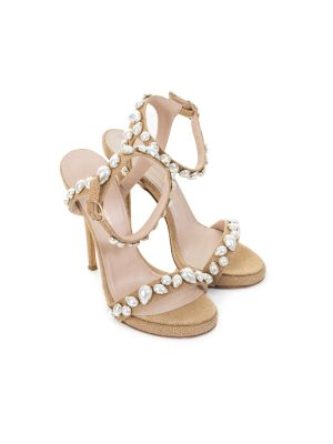 Natural Fibers And Pearls Sandals by Ermanno Scervino - Le Dressing Monaco