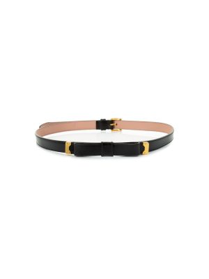 Black Leather Bow Belt by Prada - Le Dressing Monaco