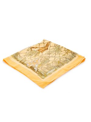 Yellow Grand Vent Silk Scarf by Hermès - Le Dressing Monaco