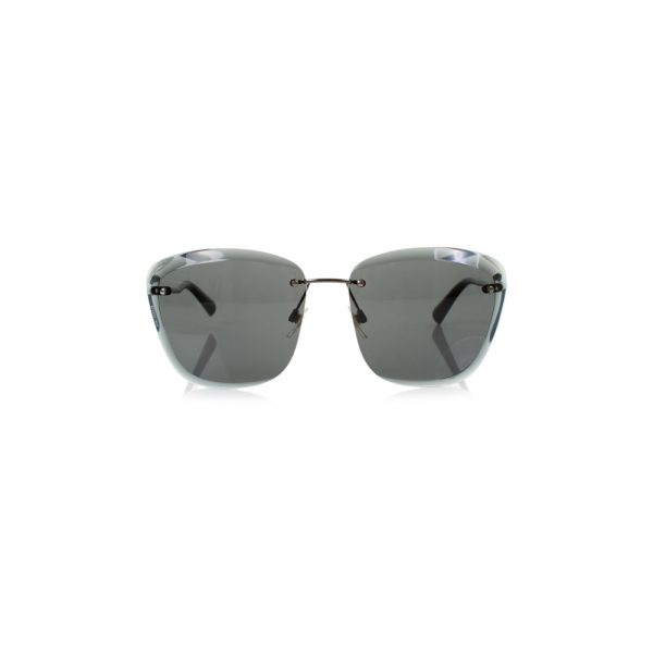 Black Sunglasses With A Beveled Edge by Chanel - Le Dressing Monaco