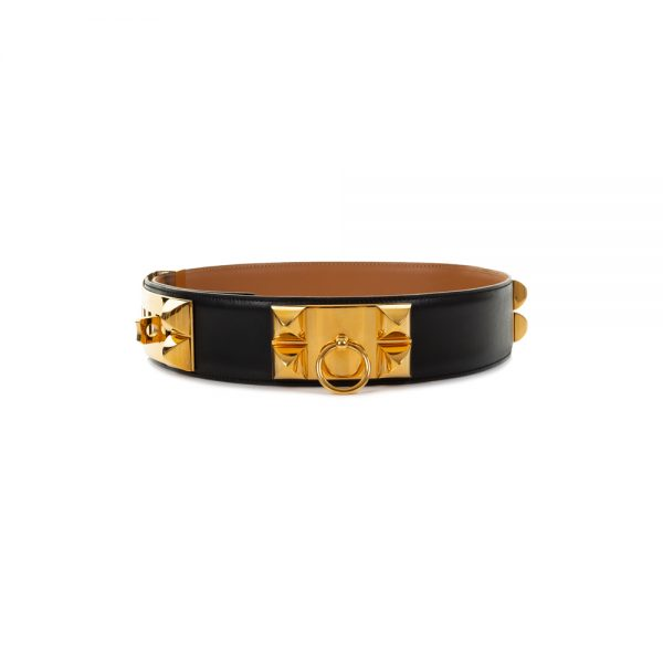 Black Box Collier de Chien Belt by Hermès - Le Dressing Monaco
