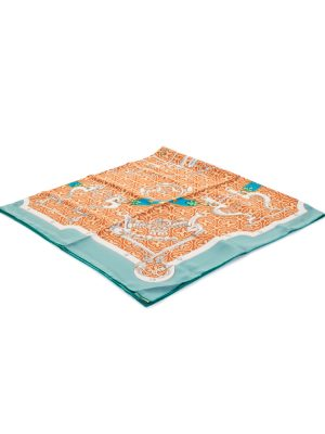 Orange Giant Silk Scarf Mors et Gourmettes by Hermès - Le Dressing Monaco