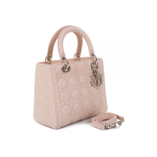 Light Pink Diorrissimo in Caviar Leather by Christian Dior - Le Dressing Monaco
