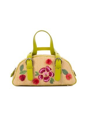 Embroidered Straw Handbag by Christian Dior - Le Dressing Monaco