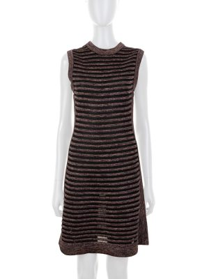 Sleeveless Striped Lurex Dress by Missoni - Le Dressing Monaco