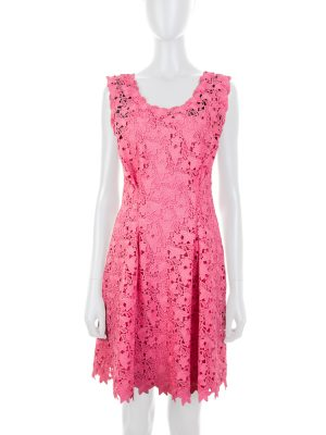 Sleeveless Pink Lace Dress by Ermanno Scervino - Le Dressing Monaco