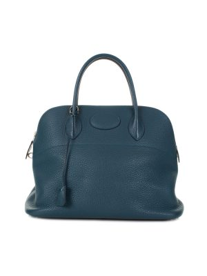 Bolide Handbag Togo Leather Blue Galice by Hermès - Le Dressing Monaco