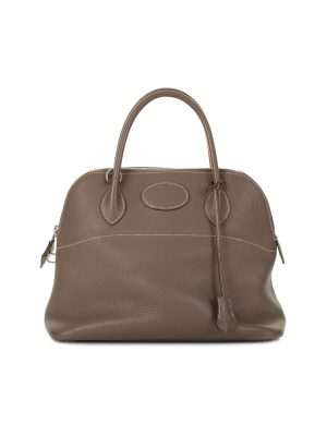 Bolide Handbag Togo Leather Etoupe by Hermès - Le Dressing Monaco