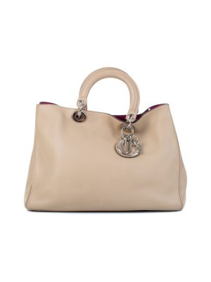 Big Model Beige Diorissimo Handbag by Christian Dior - Le Dressing Monaco