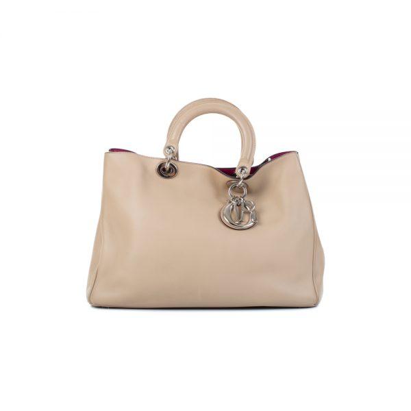 Big Model Beige Diorissimo Handbag by Christian Dior - Le Dressing Monaco