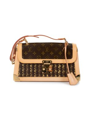 Limited Edition Tweedy Satchel Flap Bag by Louis Vuitton - Le Dressing Monaco