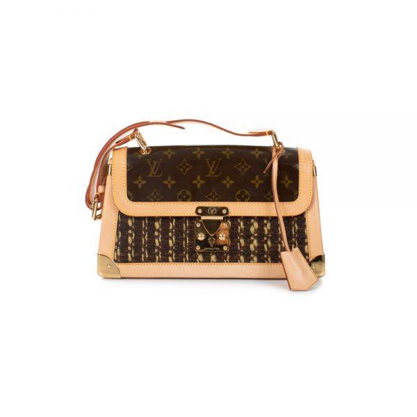Limited Edition Tweedy Satchel Flap Bag by Louis Vuitton - Le Dressing Monaco