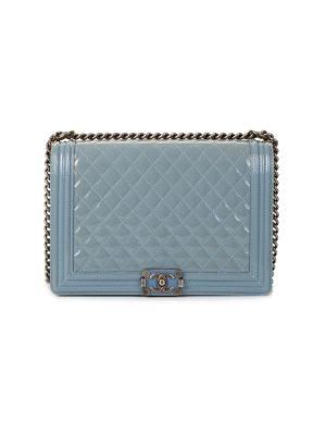 Light Blue BM Patent Leather Boy Handbag by Chanel - Le Dressing Monaco