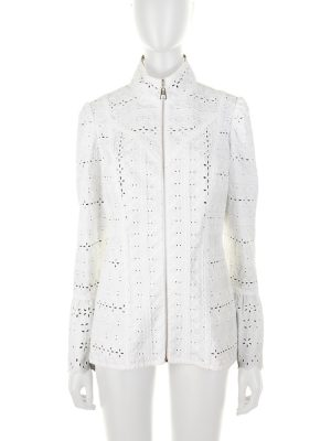 White Zipped Broderie Anglaise Jacket by Louis Vuitton - Le Dressing Monaco