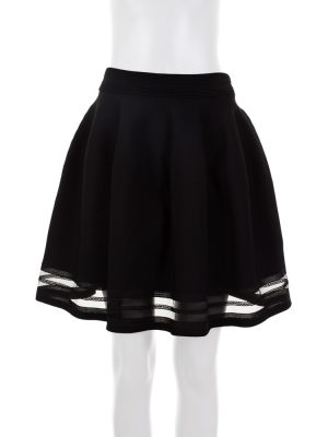 Black Strech Knitted Full Skirt by Blumarine - Le Dressing Monaco