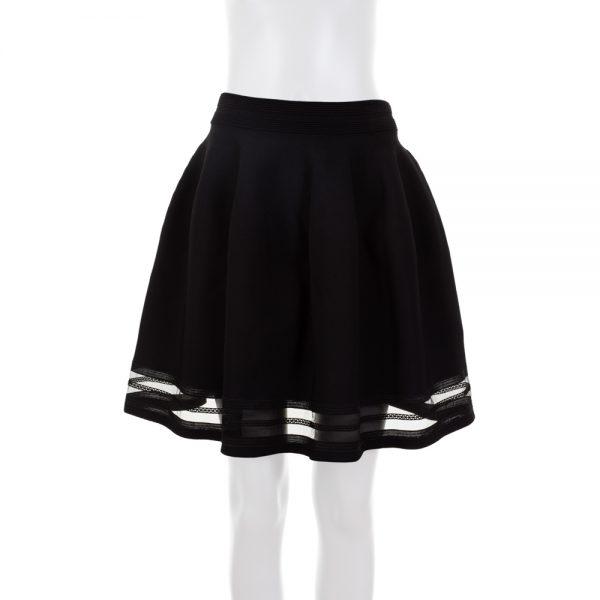 Black Strech Knitted Full Skirt by Blumarine - Le Dressing Monaco