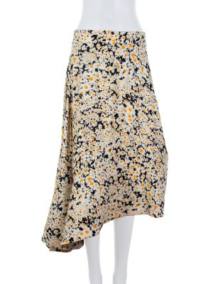 Floral Asymmetric Skirt by Céline - Le Dressing Monaco