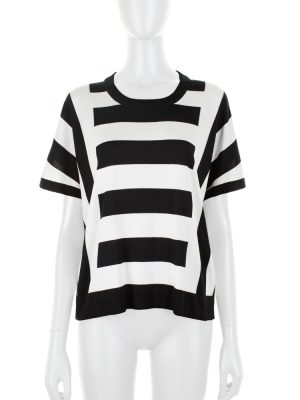 Black and White Striped Oversize Top by Dolce e Gabbana - Le Dressing Monaco