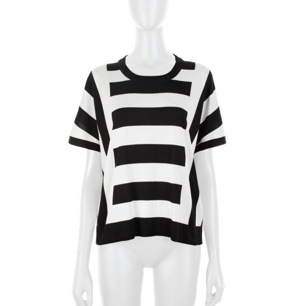 Black and White Striped Oversize Top by Dolce e Gabbana - Le Dressing Monaco