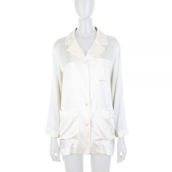Creme Shirt Pyjamas Style by Deitas - Le Dressing Monaco