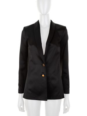 Long Sleeved Black Silk Blazer by Deitas - Le Dressing Monaco