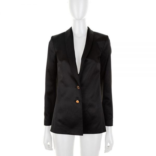 Long Sleeved Black Silk Blazer by Deitas - Le Dressing Monaco