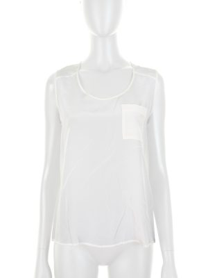 Sleeveless Silk Top With Pocket by Deitas - Le Dressing Monaco