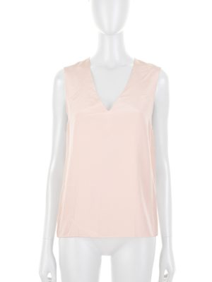 V Neck Sleeveless Nude Top by Deitas - Le Dressing Monaco