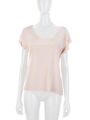 Nude Cap Sleeve Silk Top by Deitas - Le Dressing Monaco